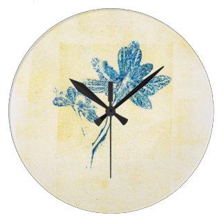 Relógio Grande O azul sae do pulso de disparo de Monoprint