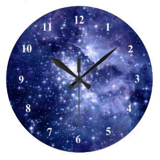 Relógio Grande O cobalto sonha o universo do espaço das galáxias
