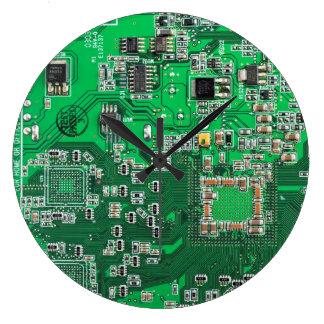 Relógio Grande O conselho de circuito do geek do computador -