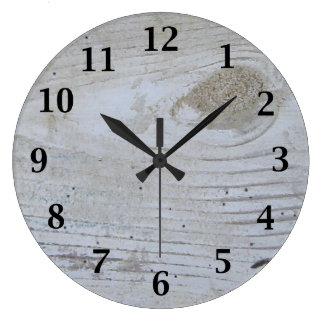 Relógio Grande O conselho Whitewashed rústico