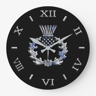 Relógio Grande O cromo gosta do seletor escocês do cardo em a