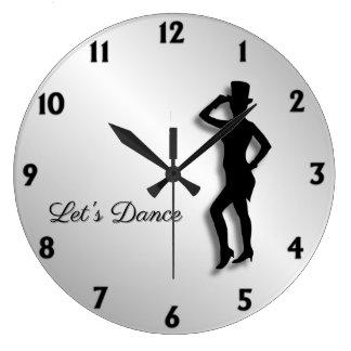 Relógio Grande O dançarino de torneira deixou-nos dançar