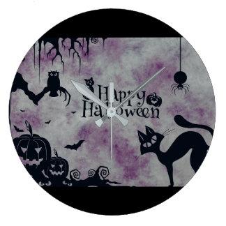 Relógio Grande O Dia das Bruxas feliz