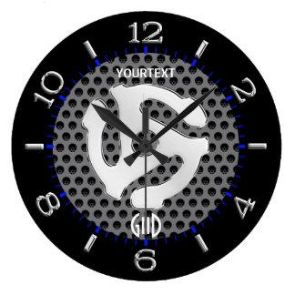 Relógio Grande O espaçador retro LEGAL DJ do amarelo 45 disca em