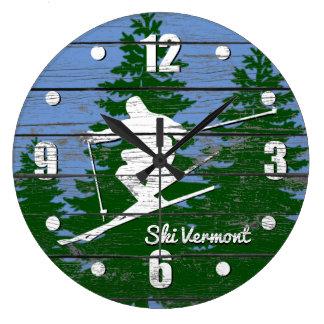 Relógio Grande O esqui em declive personaliza