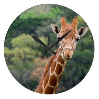 """Relógio Grande O girafa diz o """"queijo"""" com um pulso de disparo"""