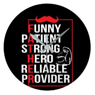 Relógio Grande O herói forte paciente do pai seguro fornece