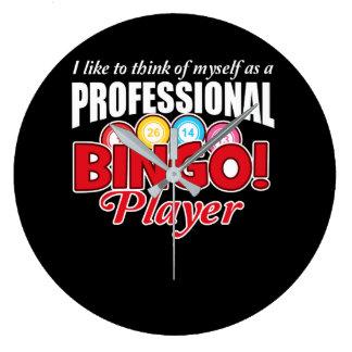 Relógio Grande O jogador do Bingo pensa-se como o profissional