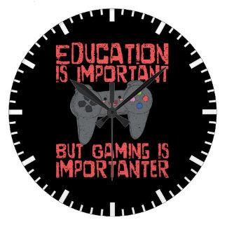 Relógio Grande O jogo é Importanter do que a educação - Gamer