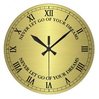 Relógio Grande O ouro nunca deixou vai seu pulso de disparo de