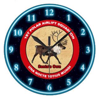 Relógio Grande O próprios do papai noel - ø esquadrão polar do