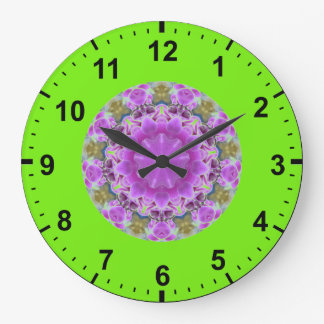 Relógio Grande O ~ proveio por muito tempo o ~ roxo do Fractal