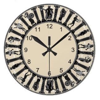 Relógio Grande O pulso de disparo de parede das deidades gregas