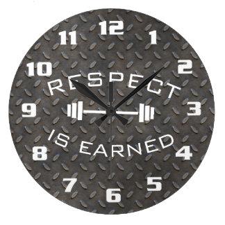 Relógio Grande O respeito inspirador do Gym legal é ganhado