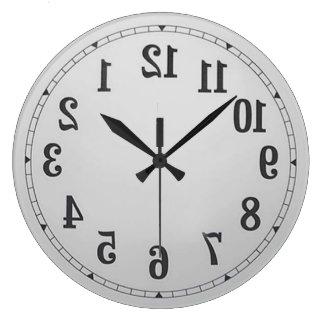 Relógio Grande O reverso numera o pulso de disparo de parede