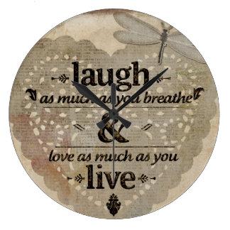 Relógio Grande O riso tanto quanto você respira