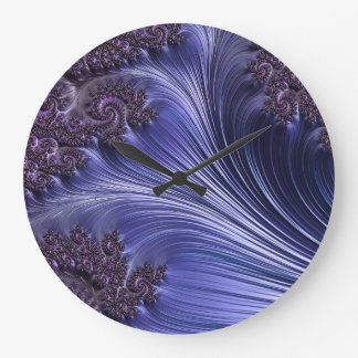 Relógio Grande O roxo acena o pulso de disparo de parede da arte