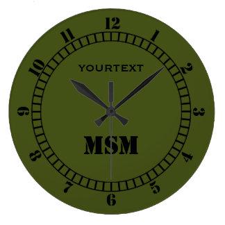Relógio Grande O seletor da decoração da verde azeitona