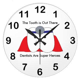 Relógio Grande O super-herói do dente do dentista personaliza
