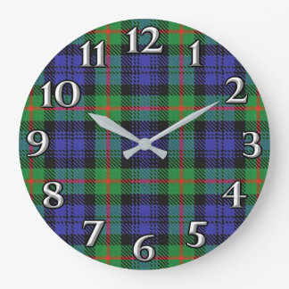 Relógio Grande O tempo escocês acentua o Tartan de Murray do clã