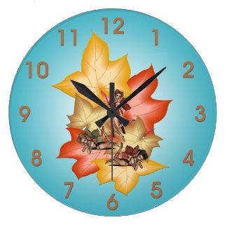 Relógio Grande Objectivas triplas de Fae da folha da queda
