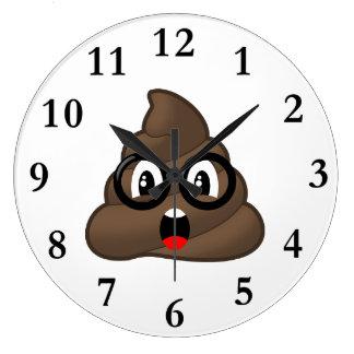 Relógio Grande Oh tombadilho Emoji w/Glasses