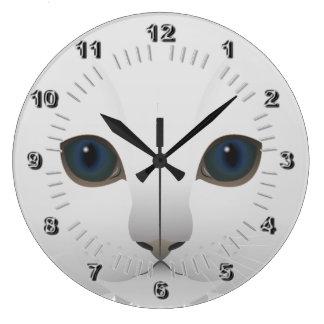 Relógio Grande Olhos azuis do gatinho