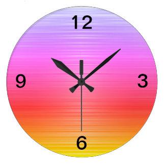 Relógio Grande Ombre colorido