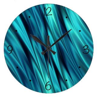Relógio Grande Ondas de seda de água-marinha