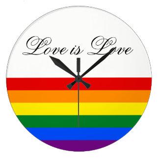 Relógio Grande Orgulho gay da lésbica da bandeira LGBT do