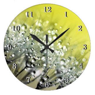 Relógio Grande Orvalho Sparkling amarelo no dente-de-leão