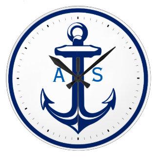 Relógio Grande Os azuis marinhos ancoram com os presentes