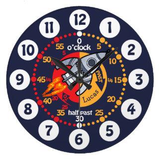 Relógio Grande Os meninos dos miúdos aprendem dizer o pulso de