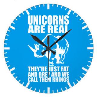 Relógio Grande Os unicórnios são - são Rhinos - novidade