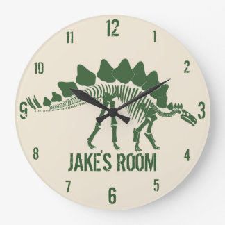 Relógio Grande Ossos de dinossauro personalizados