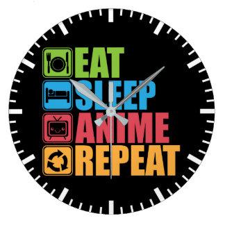 Relógio Grande Otaku - coma, durma, Anime, repetição - Manga,