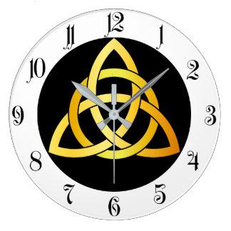 Relógio Grande Ouro celta de Ireland do nó do círculo original de
