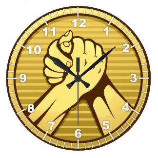 Relógio Grande Ouro da luta de braço