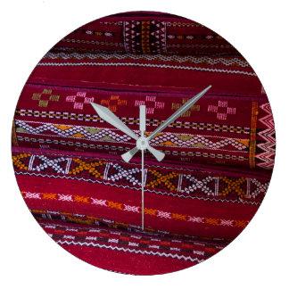 Relógio Grande Padrões do travesseiro de matéria têxtil