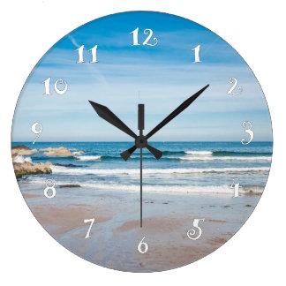 Relógio Grande Paisagem do beira-mar, pulso de disparo de parede