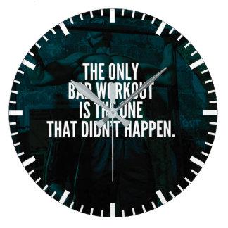 Relógio Grande Palavras inspiradas do exercício - exercício mau