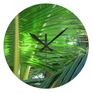 Relógio Grande Palma de coco havaiana