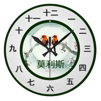 Relógio Grande Parte customizável do tempo do mandarino