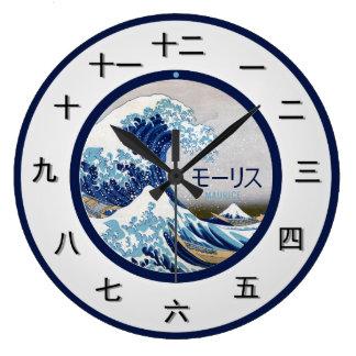 Relógio Grande Parte japonesa customizável do tempo