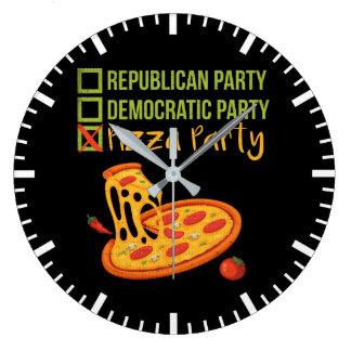 Relógio Grande Partido da pizza - votação engraçada da novidade