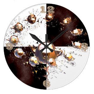 Relógio Grande Partido do bule