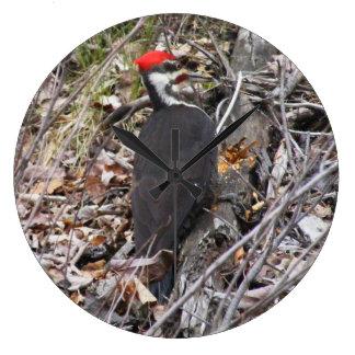 Relógio Grande Pássaro do pica-pau