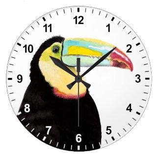 Relógio Grande Pássaro tropical de Toucan