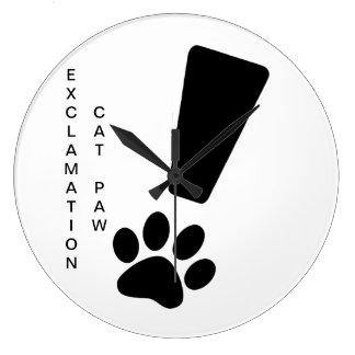 Relógio Grande PATA DO CAT DA EXCLAMAÇÃO! Pulso de disparo