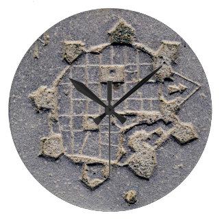 Relógio Grande Pedra de pavimentação do mapa da citadela de
